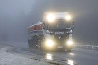 New Scania Headlights Through Fog