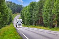 Trucking Through Summer Scenery