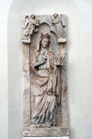 Gotisches Epitaph der Plectrudis in der romanischen Kirche St. Maria im Kapitol
