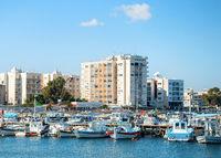 Larnaca marina, apartments, cityscape, Cyprus