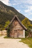 Holzhütte aus dem Film Wickie und die starken Männer.