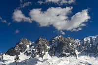 Aiguilles de Chamonix im Mont-Blanc-Massiv, , Hochsavoyen, Frankreich