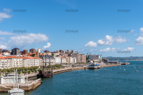 Panoramic view of Santander a sunny day