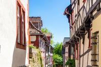 Alsfeld im mittelhessischen Vogelsbergkreis mit ihrer Altstadt und geschlossener historischer Bebauu