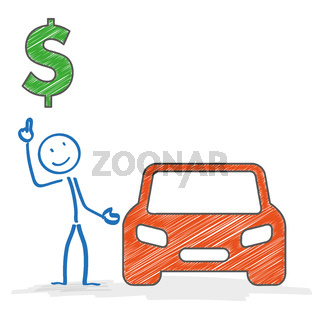 Stickman Car Dollar