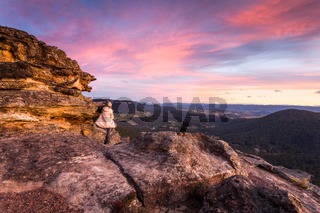 Watching gloriious sunsets in the mountains of Australia