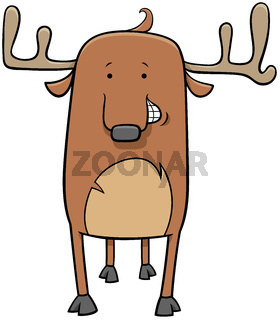 deer wild animal character cartoon illustration
