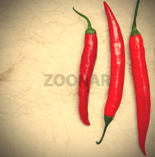 three red hot chili peppers