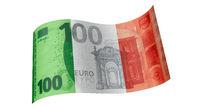 100 Euro Schein in Grün Weiß Rot (Italien-Fahne)