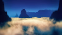 beautiful landscape and scenery in rural chile 3d rendering