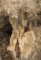 Calcite Ablagerungen und Tropfsteinbildungen im Inneren der Wind Höhle (Wind Cave) Gunung Mulu Nationalpark