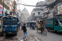 chandni chowk market and mosque
