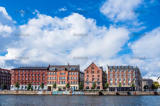 Gebäude in der Stadt Kopenhagen, Dänemark