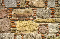 Traditional Stone and Brick Wall Background Texture