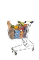 Shopping cart full groceries