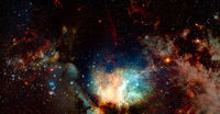 Star birth in the extreme. Elements of this image furnished by NASA