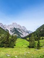 Blick auf die Bindalm im Berchtesgadener Land