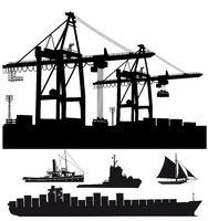 Hafen mit Schiffen.eps