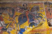 Der Heilige Aboli im Galopp reitend