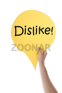 Yellow Speech Balloon With Dislike