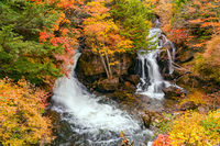 View of Ryuzu Waterfalls in Nikko City
