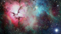 Deep space art. Nebulas, galaxies and stars. Elements of this image furnished by NASA