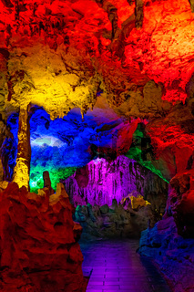 Stunning Huanglong Yellow Dragon Cave