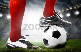 legs of a soccer player