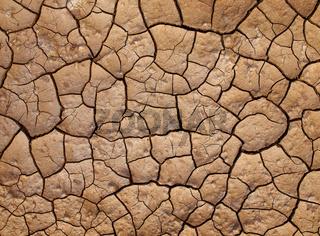 Ausgetrocknete Erde