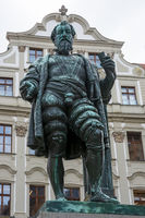 Historic Fugger sculpture in Augsburg