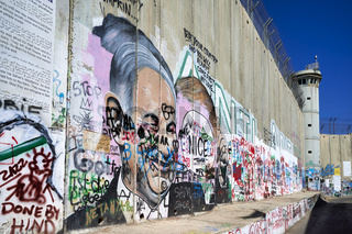 Jerusalem Israel. The west bank separation wall in Bethlehem