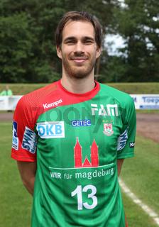 slowenischer Handballer Jure Natek SC Magdeburg DHB HBL DKB Handball-Bundesliga Saison 2014/15