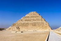 The Step Pyramid of Djoser in the necropolis area within Saqqara, was built in the 27th century BC
