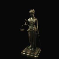 beautiful brass Lady Justice figure