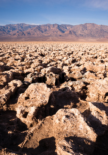 Sea Level Devil's Golf Course Death Valley Panamint Range