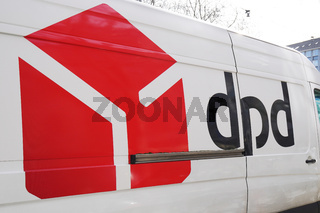 dpd logo and brand on parcel delivery van