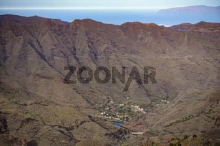 Der Talkessel von La Laya auf der Insel La Gomera