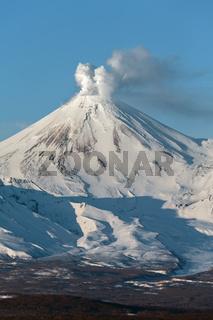 Avachinsky Volcano - active volcano of Kamchatka Peninsula