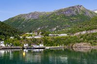 Farming Geirangerfjord in Norway