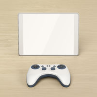 Tablet and wireless gaming controller