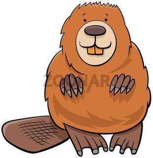 beaver animal character cartoon illustration