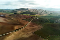 Aerial photography agricultural fields in Sevilla, Spain