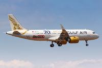 Gulf Air Airbus A320neo Flugzeug Flughafen Athen in Griechenland