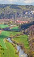 Donautal mit Kloster Beuron, Landkreis Sigmaringen