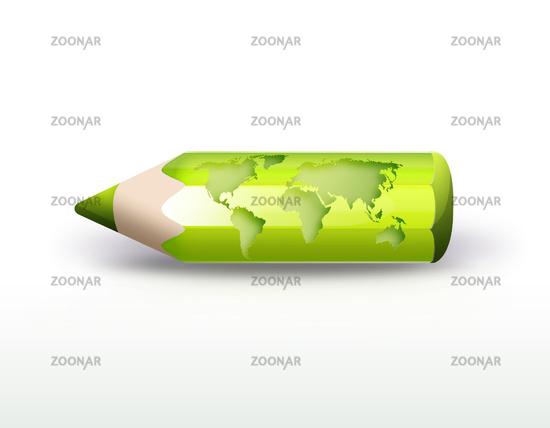 world pencil
