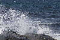 Wellengischt an der Atlantikküste