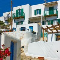 Houses in Mykonos in Greece