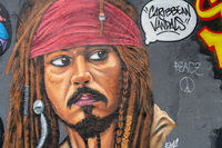 Fluch der Karibik Graffiti, Mauerpark Berlin