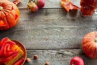 Halloween food card