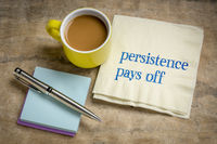 persistence pays off inspirational note